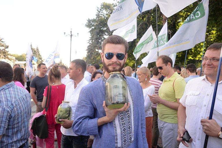 Акция протеста под Верховной Радой с требованием вынести на голосование вопрос о снятии неприкосновенности с нардепов