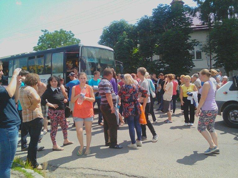 Блокирование трассы Песочная - Трускавец во Львовской области, 11 июля 2017