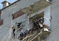 Разрушенный в результате обстрелов дом в Донбассе. Архивное фото