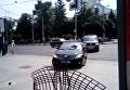 Кортеж Порошенко промчался пешеходной улице в Сумах. Видео