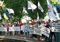 Медики со всей Украины вышли на протест под МОЗ. Архивное фото
