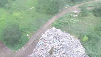 Несанкционированная свалка мусора во Львове