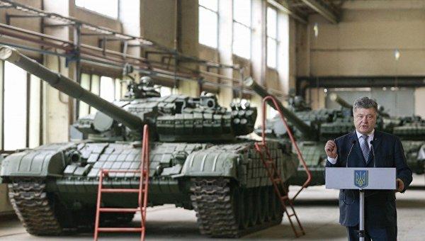 Порошенко на Львовском бронетанковом заводе