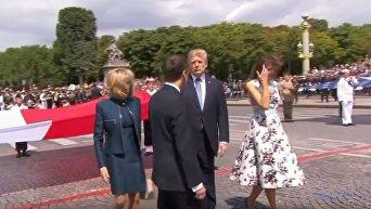 Бесконечно долгое рукопожатие Трампа и Макрона от CNN. Видео