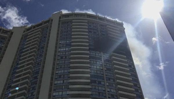 Пожар в жилом комплексе Marco Polo на Гаваях