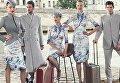 Новая форма китайских стюардесс и стюардов