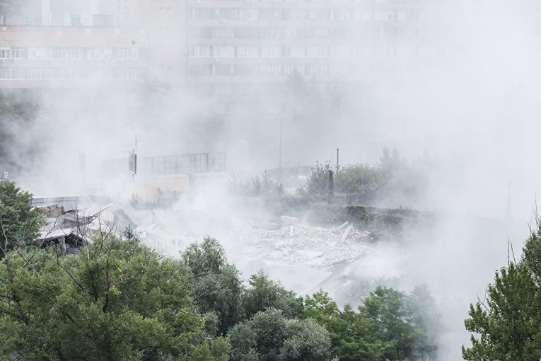 В центре Харькова подорвали недострой