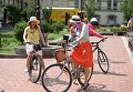 Велопарад девушек в Киеве