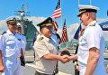 Полторак осмотрел участвующие в учениях Sea Breeze-2017 эсминец и ракетный крейсер