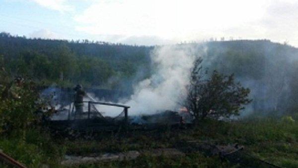 Семь человек погибли при пожаре в дачном доме в Иркутской области
