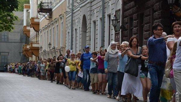 Самый длинный паровозик в Одессе
