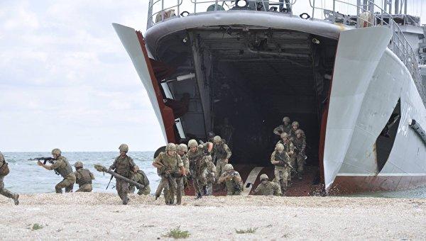 Украинские пограничники десантировались на остров в рамках Sea Breeze