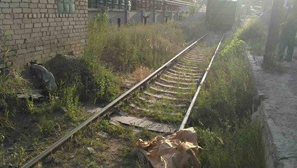 На месте гибели работника предприятия под Харьковом