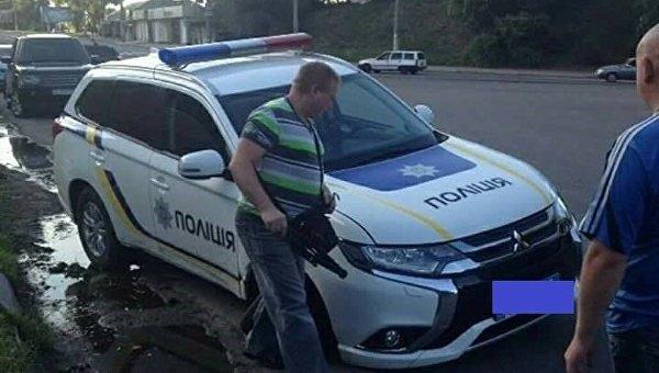 Под Днепром разбили первый полицейский Mitsubishi Outlander