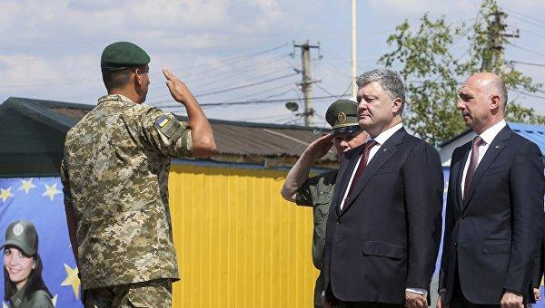 Президент Украины Петр Порошенко и премьер-министр Молдавии Павел Филип официально открыли совместный украинско-молдавский пограничный пункт пропуска Кучурган