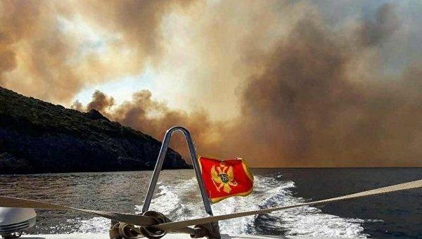Лесные пожары в Черногории