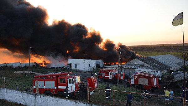 Пожар возле городской свалки в Николаеве