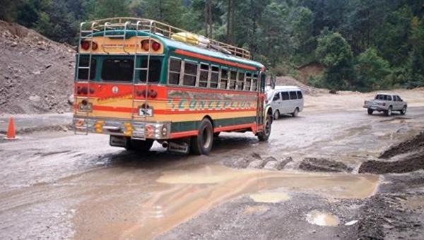 Чрезвычайное положение объявили вГватемале из-за ужасного состояния дорог