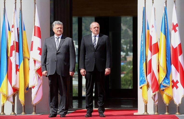 Президенты Украины и Грузии Петр Порошенко и Георгий Маргвелашвили