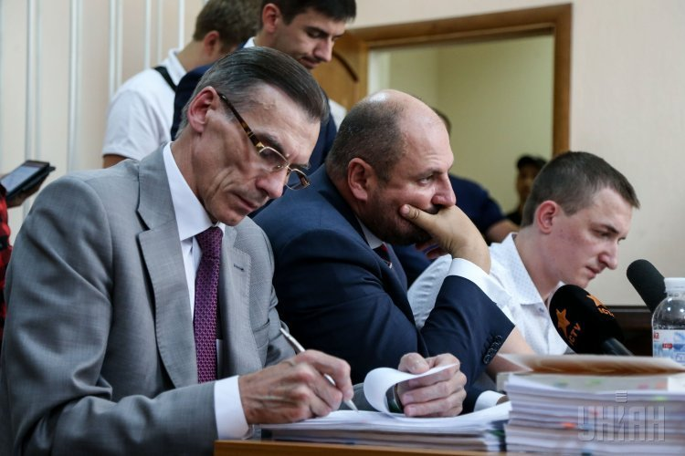 Народный депутат Борислав Розенблат во время заседания Соломенского райсуда Киева по избранию ему меры пресечения, в Киеве, 18 июля 2017 г.