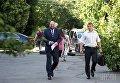 Народный депутат Борислав Розенблат перед началом заседания Соломенского райсуда Киева по избранию ему меры пресечения, в Киеве, 18 июля 2017 г.