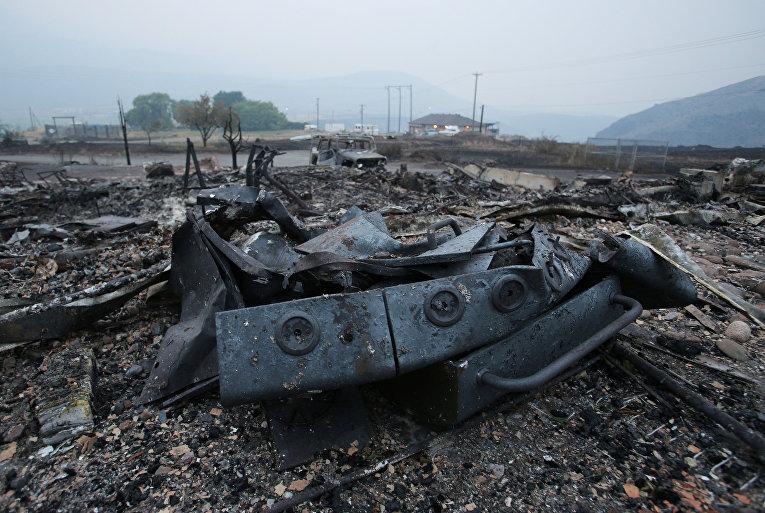 В Канаде из-за лесных пожаров эвакуировали порядка 37 тысяч человек. На фото - Британская Колумбия