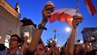 Протесты в Варшаве. Архивное фото