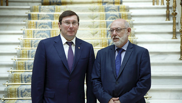 Юрий Луценко и его испанский коллега Хосе Мануэль Маса