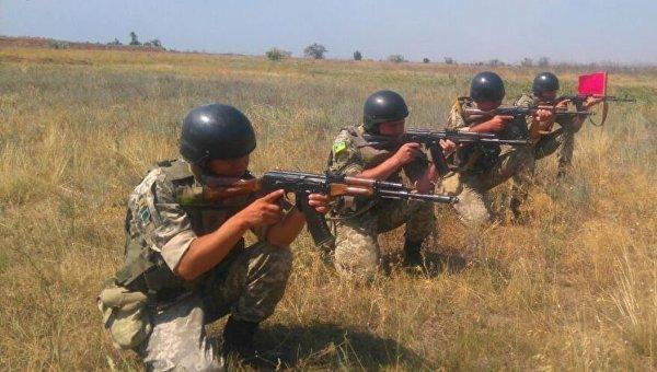 Пограничники Украины проводят учения возле Крыма