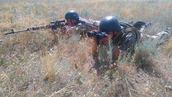 Пограничники Украины на учениях. Архивное фото