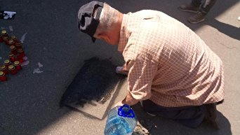 Год без Павла. В Киеве прошла акция к годовщине убийства Павла Шеремета