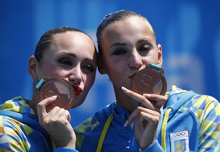 Бронзовыми призерами чемпионата мира по водным видам спорта, который проходит в Будапеште, стали украинки, представительницы синхронного плавания Анна Волошина и Елизавета Яхно, которые заняли 3-е место среди дуэтов в произвольной программе с суммой 93,2667 балла.