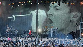 Американская рок-группа Linkin Park. Солист Linkin Park
