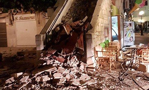 Разрушительные последствия землетрясения на греческом острове Кос
