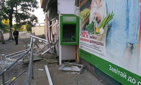 Под Харьковом подорвали банкомат Привата