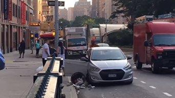 Уличная драка в Нью-Йорке