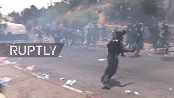 Столкновения в Иерусалиме. Видео