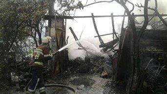 Во Львове сгорело самовольное поселение ромов из Закарпатской области
