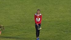 Белорусская легкоатлетка ушла с пьедестала из-за ошибки с гимном. Видео
