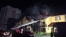 Пожар в гостинице в Луцке, 24 июля 2017