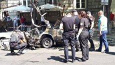 Взрыв автомобиля в Одессе