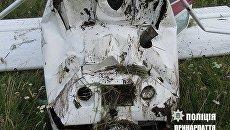 В Прикарпатье перевернулся самолет
