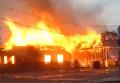 В Одессе горит ресторан: пламя охватило все здание. Видео