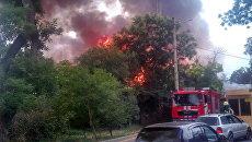 Пожар в одесском ресторане Хуторок