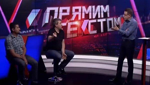 Телеведущий Остап Дроздов и политолог Юрий Романенко