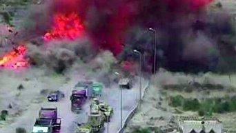 Семь человек погибли при взрыве машины у КПП на севере Синая в Египте