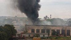 Во Львове горит инструментальный завод