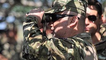 Испытания новых образцов оружия и техники на Гончаровском полигоне в Черниговской области