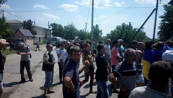 Ситуация под зданием Ширяевского районного суда в Одессе