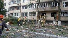 В Киеве на Голосеево в жилом доме прогремел взрыв